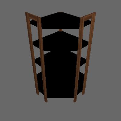 Estante Bambuí Nogal e Preta - Tecno Mobili