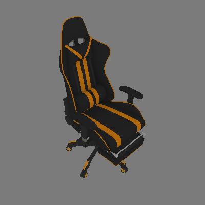 Cadeira de Escritório Presidente Reclinável Gamer Preta e Amarela - Mobly