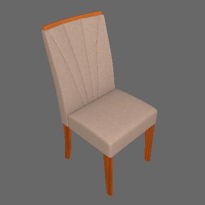 Conjunto com 4 Cadeiras Apogeu lll Rovere e Bege - Lopas