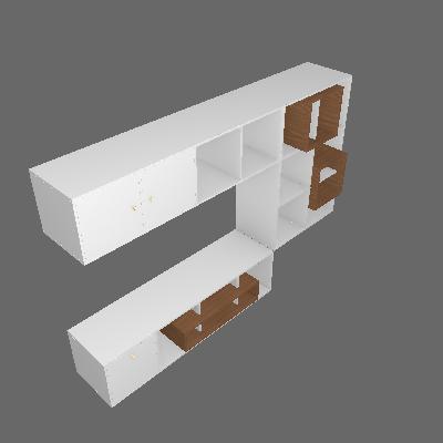 Nicho Multifuncional Dominox 2 PT 1 GV Branco e Ébano - Belmax