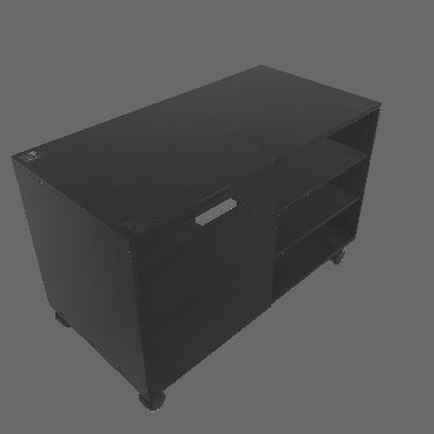Rack Compaq Preto 90 cm - Mobly