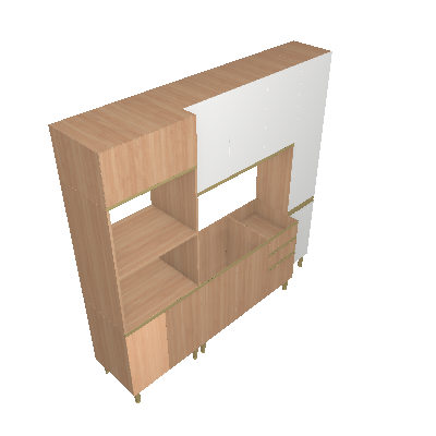 Cozinha Compacta Cook 11 PT 2 GV Aveiro e Branca - BE Mobiliário Inteligente