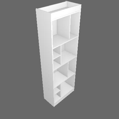 Estante Home Office Branca 60 cm - Hecol