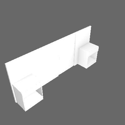 Cabeceira Casal Extensível com Criado-Mudo 2 GV Valore Branca - Novo Horizonte