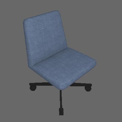 Cadeira de Escritório Interlocutor Office Estofada Azul - Daf