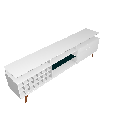 Rack Classic II 1 GV Branco Acetinado 218 cm - Imcal