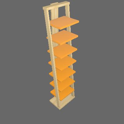 Prateleira Stairway Laranja - Maxima