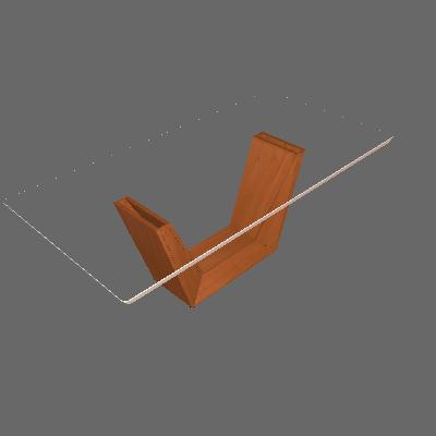 Mesa de Jantar Retangular com Tampo de Vidro Rubi II Off White e Imbuia 220 cm