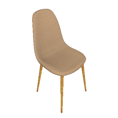 Conjunto de 4 Cadeiras Tania I Caqui - Rivatti
