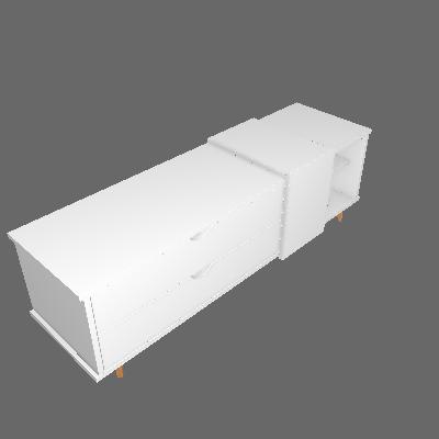 Rack Ipanema Branco 150 cm - Falkk