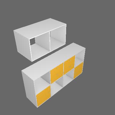 Nicho Multifuncional Dominox Branco e Amarelo - Belmax
