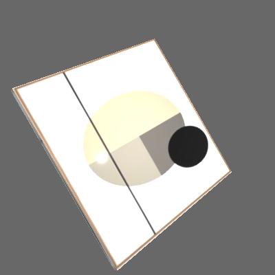 Conjunto 3 Quadros Círculos e Linhas + Flâmula Rua Lá Fora 50x70