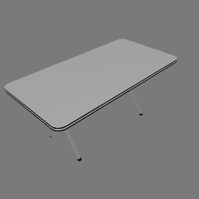 Mesa de cozinha Avulsa Me-304 Aço Cromada - Brastubo