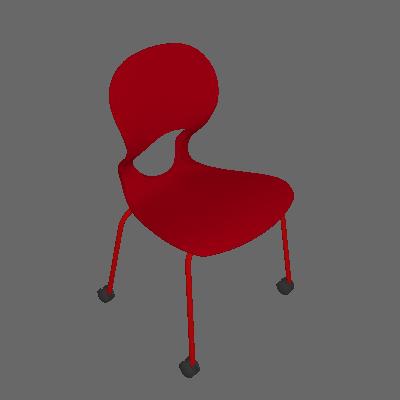 Cadeira de Escritório Secretária Eclipse Office Vermelha - I'M IN