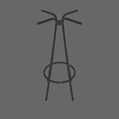 Base para Mesa Bistrô Redonda Bréscia Preta 49 cm - Pozza