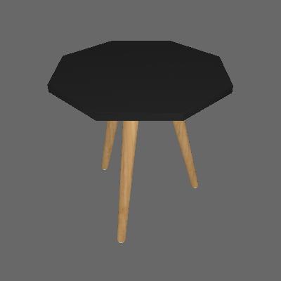 Mesa Lateral Octogonal Argos Preta - Ornament