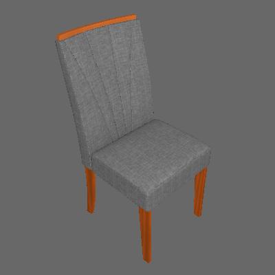 Conjunto com 4 Cadeiras Apogeu Rovere e Cinza - Lopas