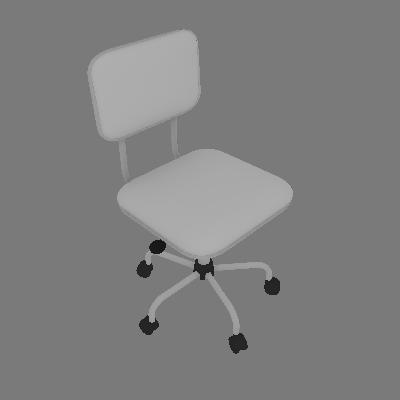Cadeira de Escritório Giratória Color Pistão a Gás Corano Prata e Branco - Mobly