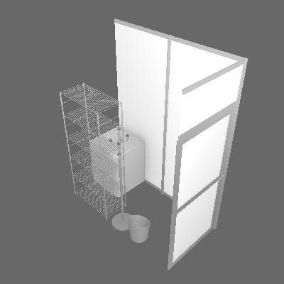 Storage Pack : Funriture + 2m² Cupboard (PACK-R2M²-MDR)