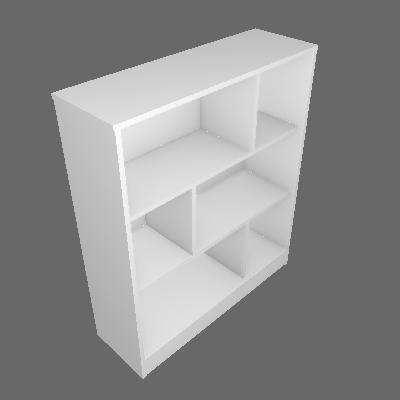 Estante Home Office Branca 93 cm - Hecol