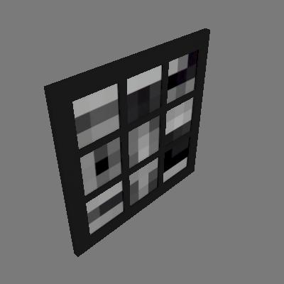 Quadro Abstrato I Uniart Preto & Branco 30x30cm - Uniart