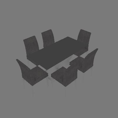 Conjunto de Mesa Olimpia I com 6 Cadeiras Branco e Cinza  160cm - Leifer