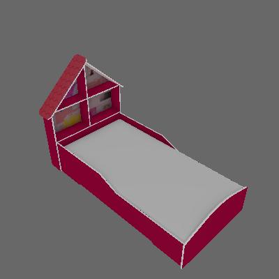 Cama Infantil Casinha Rosa - Gelius Móveis