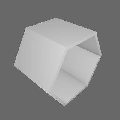 Nicho Hexagonal Favo Branco e Preto - Máxima Móveis