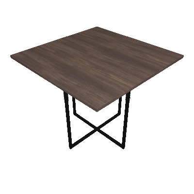Mesa de Jantar Quadrada Teka Ameixa Negra e Preta 90 cm - Brastubo