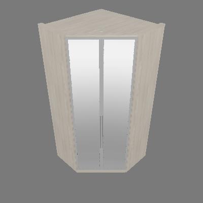 Canto Closet 02 Portas de Espelho Diamante (M301)