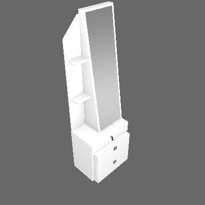 Cômoda Advance com Espelho 1PT 2GV Branco - Valdemóveis