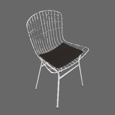 Cadeira Trama Cacau e Cromado - Pozza