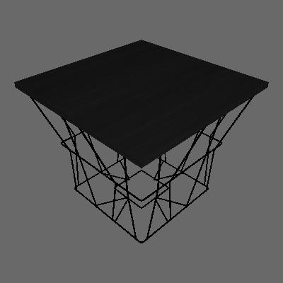 Mesa Lateral Quadrada Zyra Preta - Metaltru