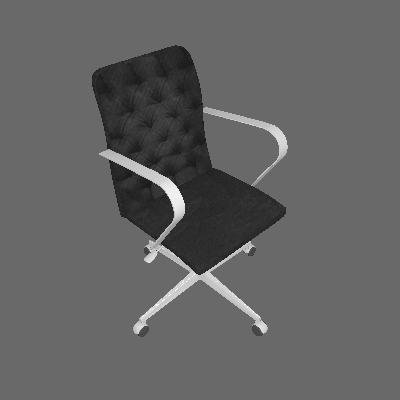 Cadeira de Escritório Gerente Veludo Preto - Daf