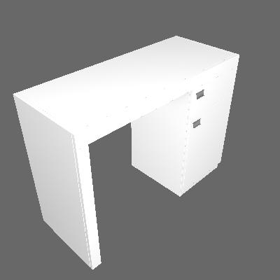 Escrivaninha Arrakis 1 PT Branca - BRV Móveis