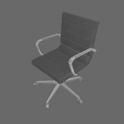 Cadeira de Escritório Diretor Estrela II Couro Sintético Preto - Daf