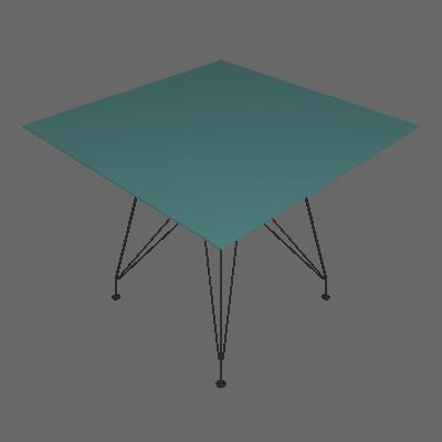 Mesa de Jantar Quadrada Eiffel Wood Incolor e Preta 90 cm - New Green