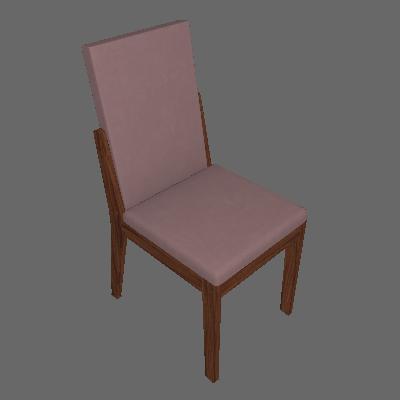 Conjunto com 4 Cadeiras Lira Imbuia e Rose - Lopas