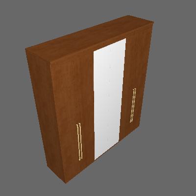 Guarda-Roupa Casal com Espelho Originale 6 PT 6 GV Álamo 207 cm - Belmax
