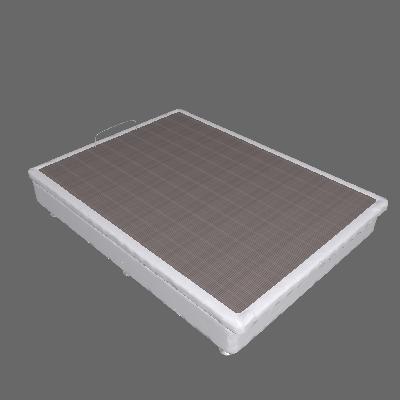 Base para Cama Box Casal Physical com Baú (25x138x188) Branca - Ortobom