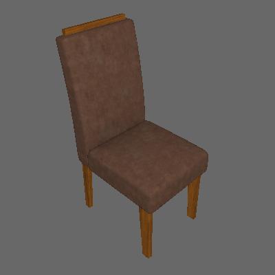Conjunto com 2 Cadeiras de Jantar Milena Suede Savana e Cacau - Cimol