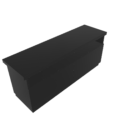 Rack Imperador Preto 137 cm - Imperador