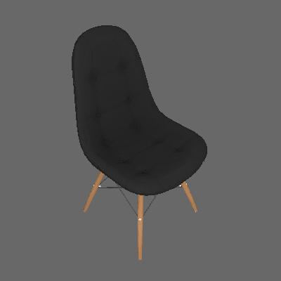 Conjunto de 2 Cadeiras Eiffel Preto - Rivatti