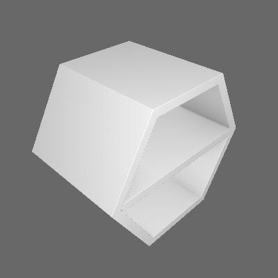 Nicho Hexagonal Favo II com Prateleira Branco - Máxima Móveis