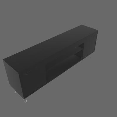 Rack Chanel Preto 160 cm - Móveis Bechara