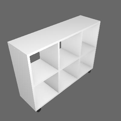 Balcão de Cozinha Tag com Tampo Branco - BRV Móveis
