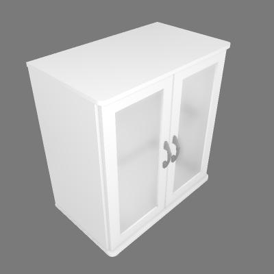 Gabinete Itaim 02 Puertas Con Vidrio (3219)