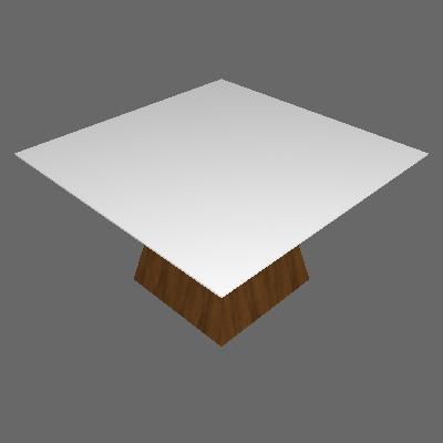 Mesa de Jantar Quadrada Grécia Branca e Canela 140 cm - Leifer