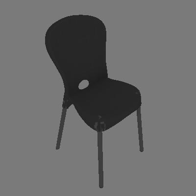 Cadeira de Plástico Montes Claros Preta - Mobly