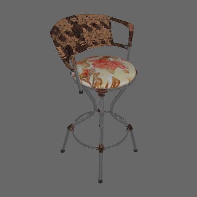 Banqueta Malibu Preta Prata Fibra - Fabone